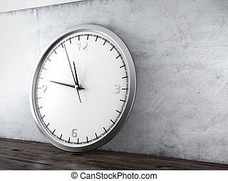Large wall clock in interior