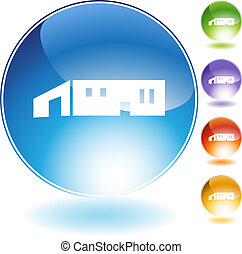Large Warehouse Icon - Large warehouse icon isolated on a ...