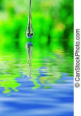 Large water drop