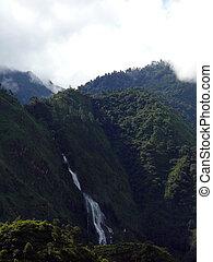 Large Waterfall in Green Himalayan Hills