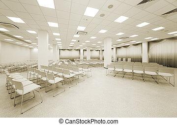 large white auditorium - large and modern white auditorium...