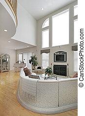 Large white living room