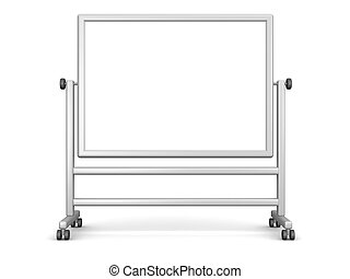 Large Whiteboard - A large portable whiteboard, isolated on...