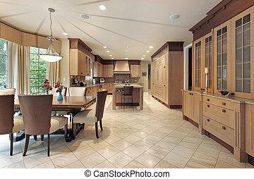 Large wood kitchen