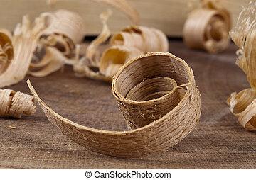 Large Curls of Wood Shavings