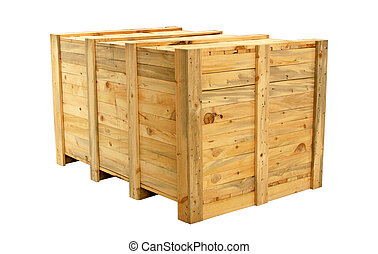 large wooden shipping box