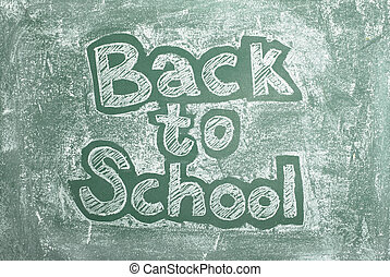 Back to school - large XXL image of an old chalkboard with ...