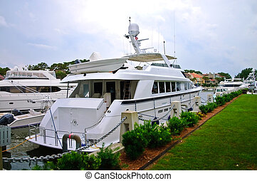 Large Yacht at the Dock