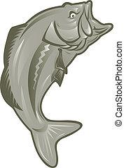 largemouth bass fish - illustration of a largemouth bass...