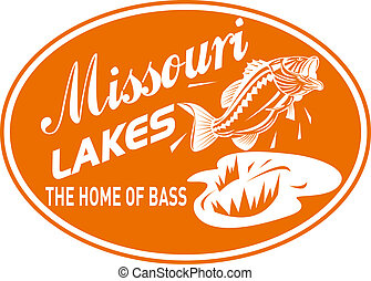 largemouth bass jumping - illustration of a largemouth bass...