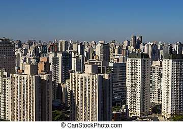 Largest cities in the world. City of Sao Paulo, Brazil.