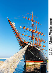 Largest four-master sailingship in Gdynia, Poland