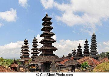 Largest Hindu temple Pura Besakih on Bali, Indonesia -...