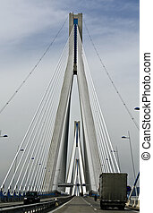 Largest in length cable stayed bridge of the world, located at Patras city in Greece.