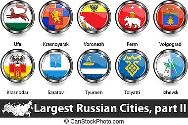 Largest Russian Cities - Flags of largest russian cities in ...
