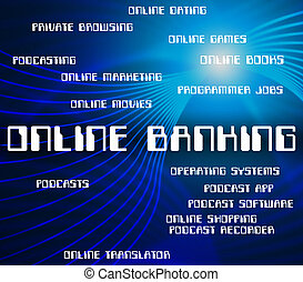 largo, e-operazioni bancarie, mezzi, bancario,  web, linea, mondo