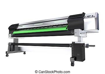 largo, formato, impressora, plotter