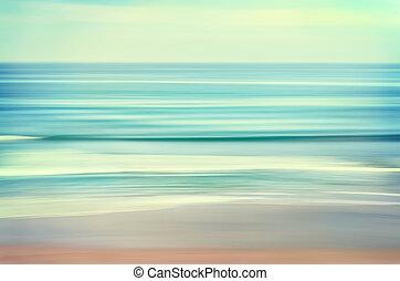 largo, onda, vista marina