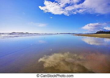 largo, praia, arenoso
