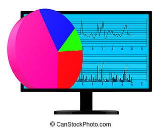 largo, web, grafico, analisi, torta, indica, linea, mondo
