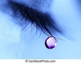 larme, bleus, goutte