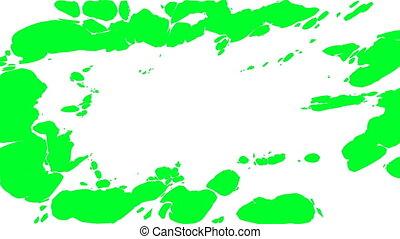 larme, transition., vert, écran