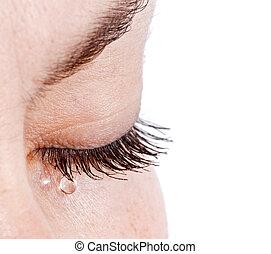 larmes, femme