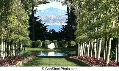 Larnach Castle Gardens 2 - Dunedin, New Zealand. View...