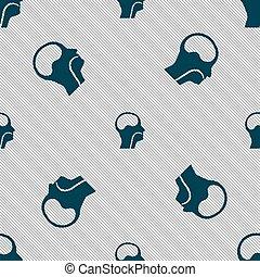 larynx, Medical Doctors Otolaryngology sign. Seamless...