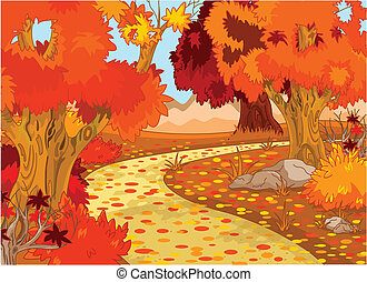 las, autumn krajobraz