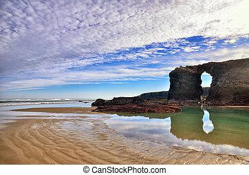 las, de, playa, catedrales, スペイン