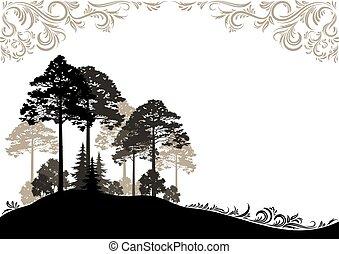 las, krajobraz
