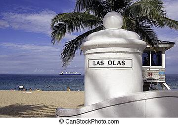 Las Olas Beach - View of the Las Olas Beach A1A Ft....