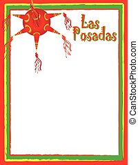 Las Posadas Poster or Flyer Background with Pinata