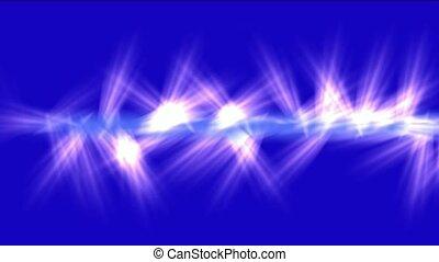 las, rayons, bleu, jet, pinceau lumineux, pourpre