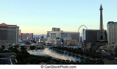 Las Vegas Bellagio Water Show at Dusk