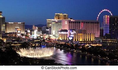 Las Vegas Bellagio Water Show at Night