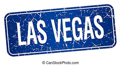 Las Vegas blue stamp isolated on white background
