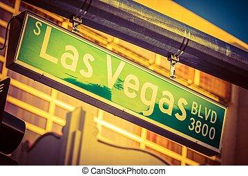 Las Vegas Boulevard Sign - Hanging Street Pole Las Vegas...
