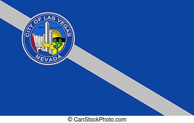las vegas, ciudad, bandera
