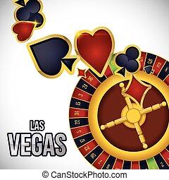Las Vegas design - Las Vegas concept with casino icons...