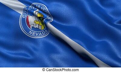 Las Vegas flag seamless loop - Seamless loop of Las Vegas...
