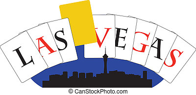 Las Vegas g card - City of Las Vegas high-rise buildings...