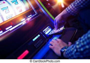 Las Vegas Gambling - Las Vegas Slot Gambling Addiction. Men...
