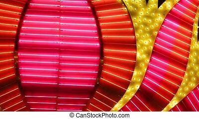 Las Vegas Neon Lights blurred close-up - Las Vegas Neon...