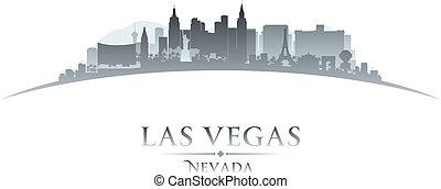 Las Vegas Nevada city skyline silhouette. Vector illustration