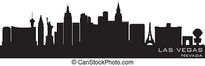 Las Vegas, Nevada skyline. Detailed vector silhouette