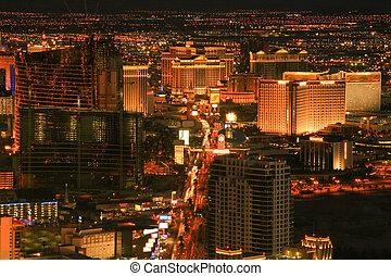 Las Vegas Night Shot - Night shot of part of the Las Vegas ...