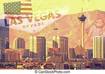 Las Vegas Postcard - Greetings From Las Vegas, Nevada. Vegas...