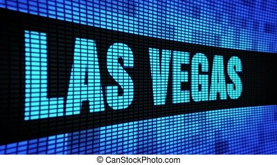 LAS VEGAS side Text Scrolling LED Wall Pannel Display Sign Board